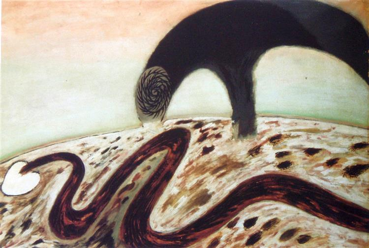 The all devouring bird and the serpent of the earth, 1955 - Jan Cox