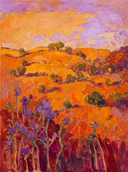 Thistles on Orange, 2016 - Erin Hanson
