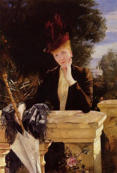 Portrait of Marie Clotilde De Faret, Comtesse De Fournes - Анри Жерве