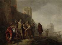 De Gezanten Van Alexander De Grote Bekleden De Tuinman Abdalonymos Met De Insigniën Der Koningswaardigheid Van Sidon - Nikolaus Knüpfer