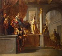 Queen of Sheba Before Solomon - Nikolaus Knüpfer