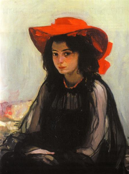 Girl in a Red Hat - Oleksandr Murashko