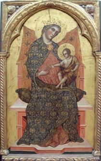 Virgin Mary and Child - Паоло Венециано