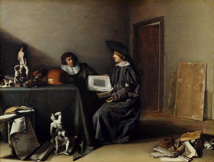 A Conversation Between An Artist and a Connoisseur, 1630 - Pieter Codde