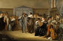 Merry Company with Masked Dancers - Pieter Codde