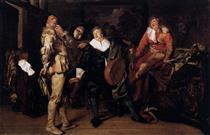 The Actors' Changing Room - Pieter Codde