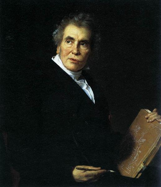 Portrait of Jacques Louis David, 1824 - Jérôme-Martin Langlois