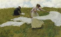A Breezy Day - Charles Courtney Curran