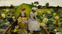 Lotus Lilies - Charles Courtney Curran