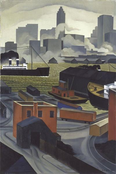From Brooklyn Heights, 1925 - George Ault