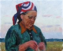 Portrait of Artist's Mother - Viktor Shatalin