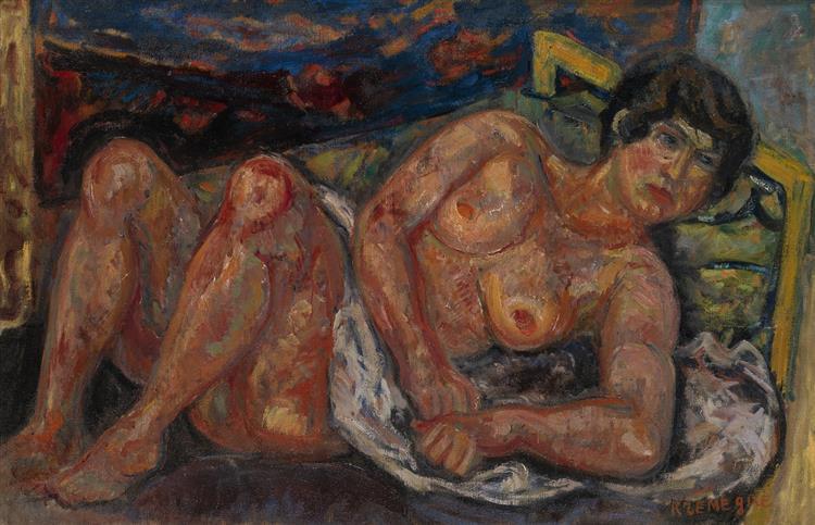 Reclining Nude - Пинхус Кремень