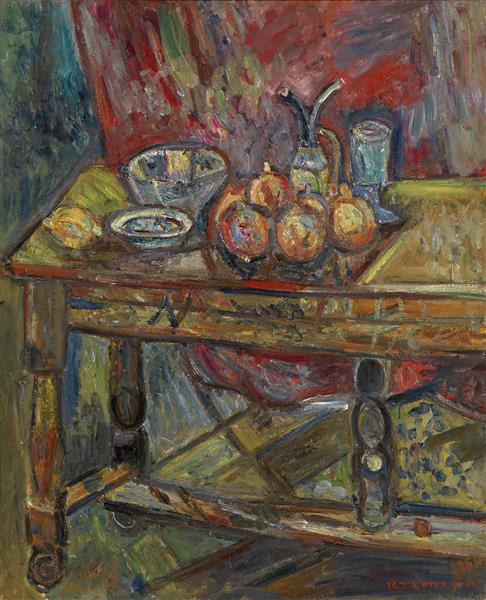 Still Life with a Table - Пинхус Кремень