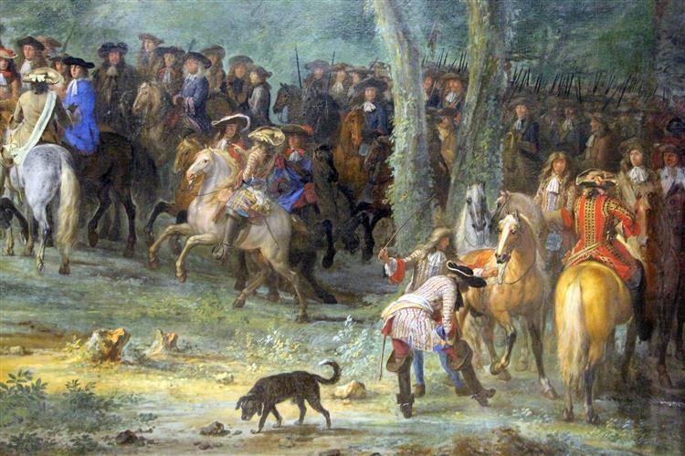 arrivo di luigi xiv al campo davanti maaastricht, c.1680 - Adam Frans van der Meulen