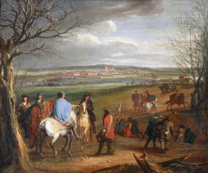 Louis Xiv Devant Dole En 1668 - Adam Frans van der Meulen