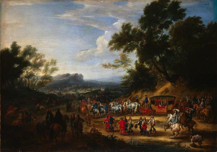 Louis Xiv Travelling, 1664 - Adam Frans van der Meulen