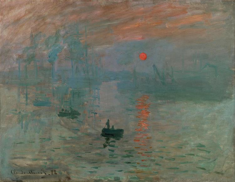 Impression, Sonnenaufgang, 1872 - Claude Monet