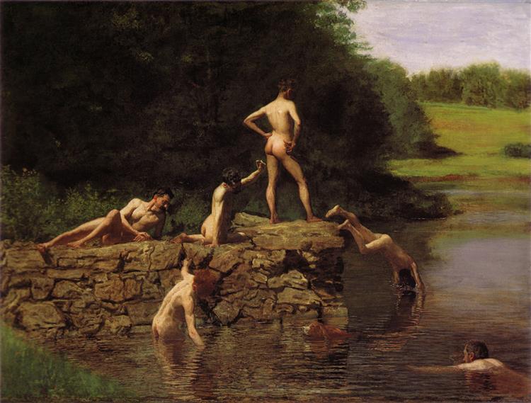 The Swimming Hole, c.1883 - Thomas Eakins