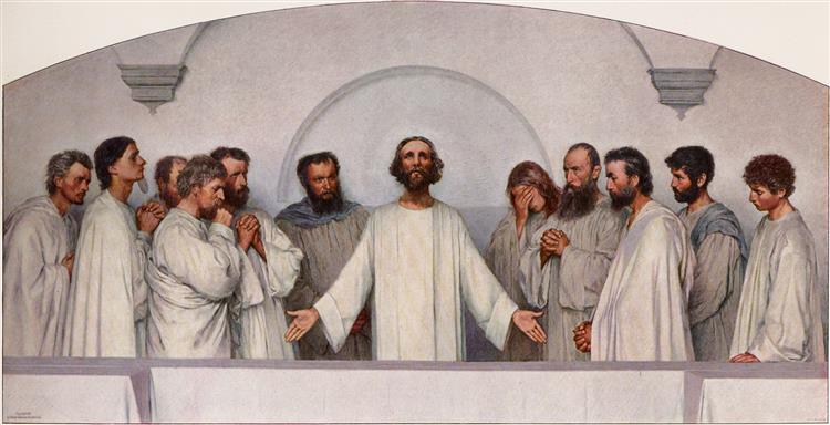 Das Hohepriesterliche Gebet, 1900 - Eugène Burnand