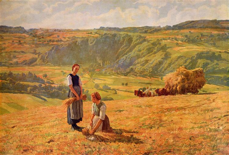 Die Ährenleserinnen, 1900 - Eugène Burnand
