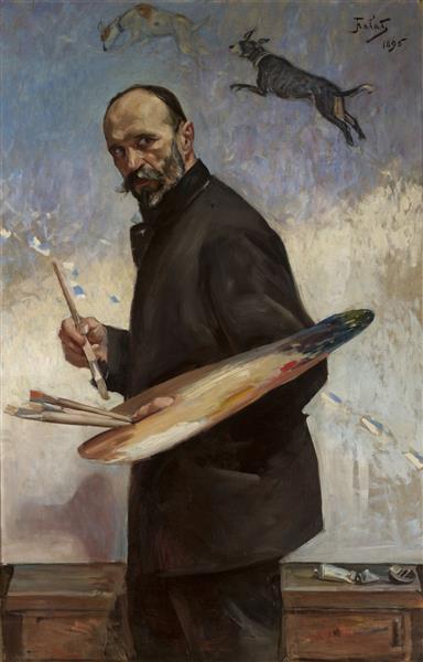 Self-Portrait, 1896 - Julian Fałat