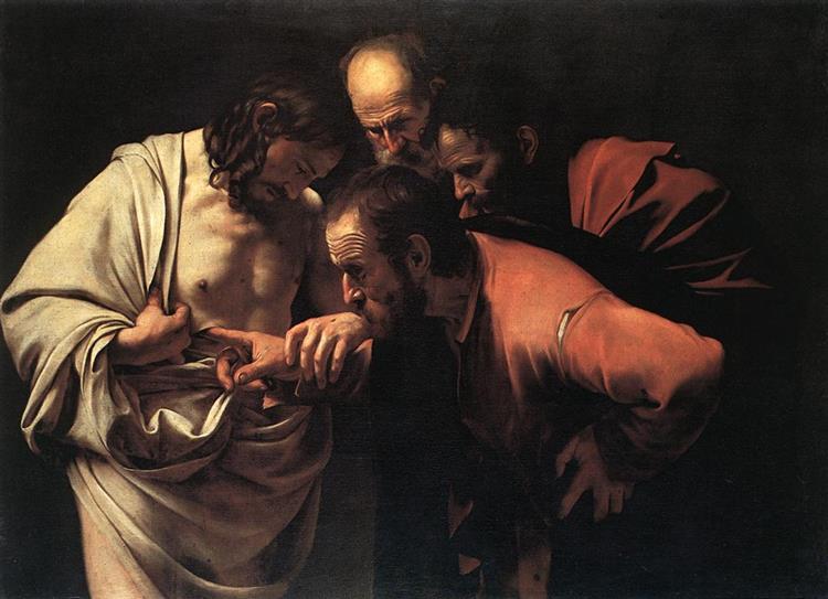 La incredulidad de santo Tomás, c.1602 - Caravaggio