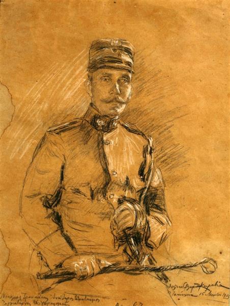 Nikolaos Troupakis, senior commander, 1913 - Талия Флора-Каравиа