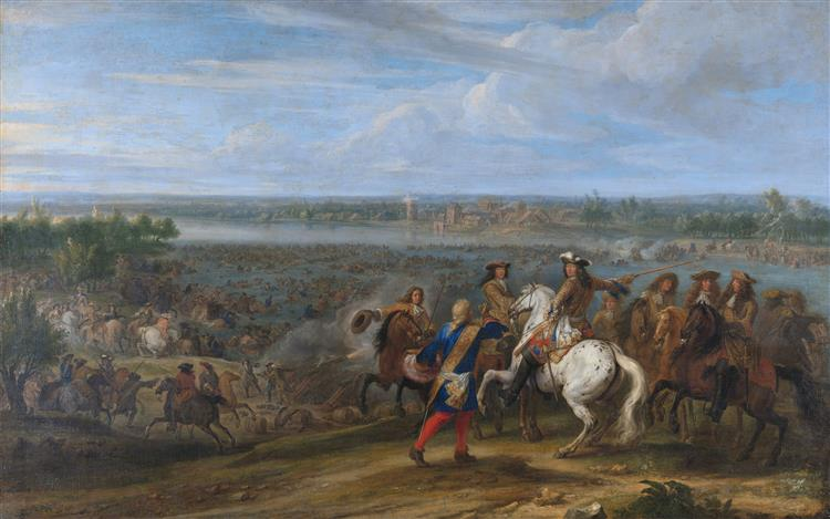 Louis Xiv Crosses the Rhine at Lobith, June 12, 1672, 1690 - Adam Frans van der Meulen