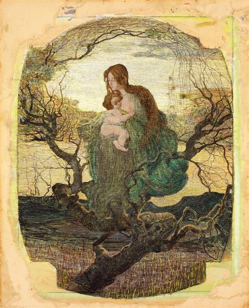The Angel of Life, 1895 - Giovanni Segantini - WikiArt org