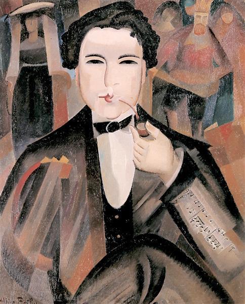 "Arthur Honegger with ""King David"", 1921 - Alice Bailly"