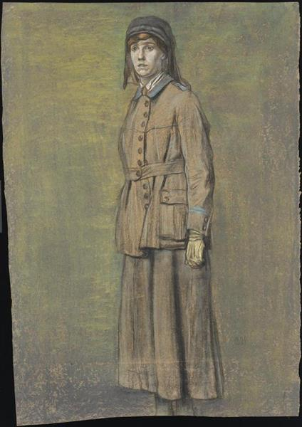 Sitter Identified as Beatrice Alison Macfarlane (by Her Son Colin Laird from Ely, Visited 9.7.1998) - Austin Osman Spare