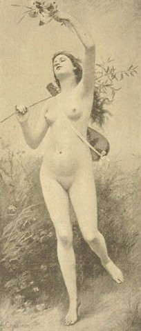 Cigale, Nude Art, 1918 - Alexandre-Jacques Chantron
