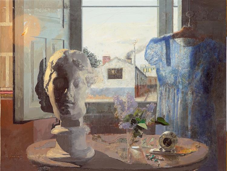 Greek Head and Blue Dress, 1958 - Antonio Lopez Garcia