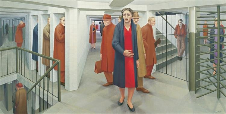 The Subway, 1950 - George Tooker