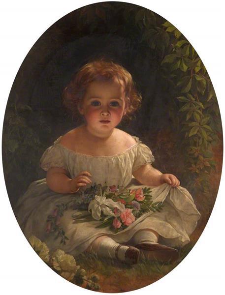 Little Florist - Thomas Francis Dicksee