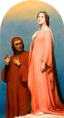 The Vision, Dante and Beatrice - Ary Scheffer