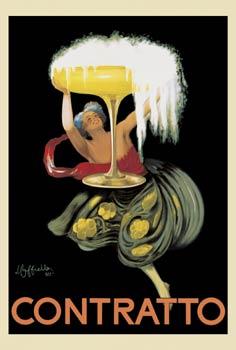 """""""contratto""""; An Advertisement for Liquor, 1922 - Leonetto Cappiello"""