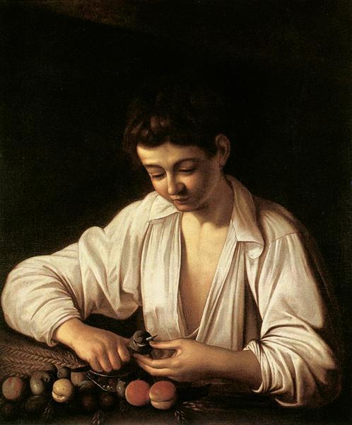 Boy Peeling Fruit, 1592 - 1593 - Michelangelo Merisi da Caravaggio