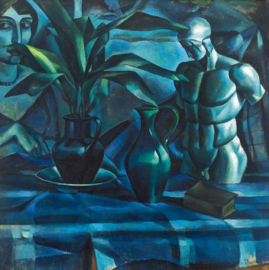 Still Life with Sculpture, 1913 - Kmetty János