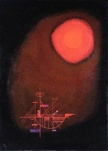 Red Sun and Ship, 1925 - Wassily Kandinsky