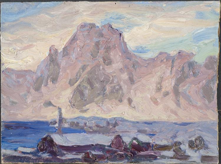 Lofoten in Violet. Study - Anna Katarina Boberg