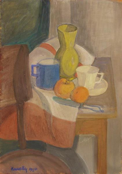 Still Life with Yellow Jar, 1930 - János Kmetty