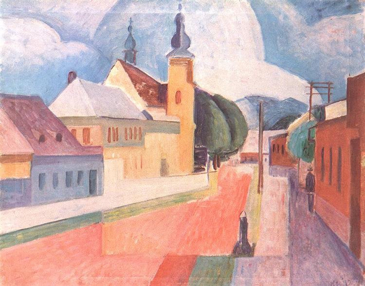 View of Nagybanya, 1932 - Kmetty János