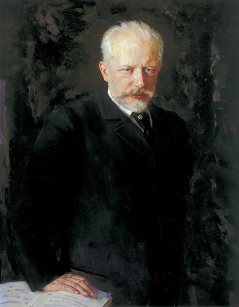 Portrait of the composer Pyotr Ilyich Tchaikovsky, 1893 - Nikolai Kuznetsov