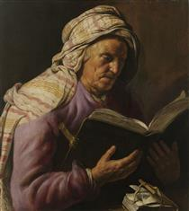 Old Woman Reading - Jan Lievens