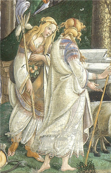 TheYouth of Moses (detail), 1481 - 1482 - Sandro Botticelli
