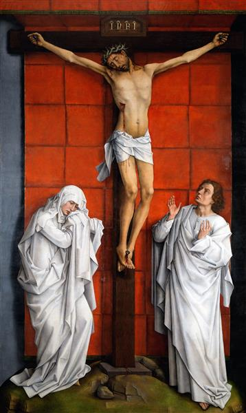 Christ on the Cross with Mary and St. John, c.1457 - c.1460 - Rogier van der Weyden