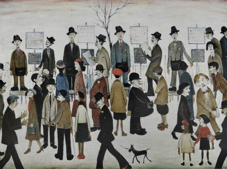 Northern Race Meeting, 1950 - L. S. Lowry - WikiArt.org
