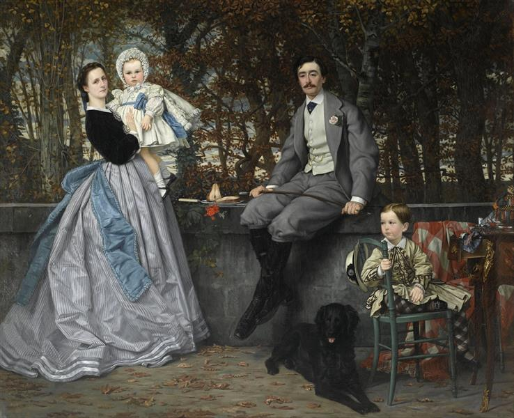 Portrait of the Marquis and Marchioness of Miramon and their children, 1865 - James Tissot
