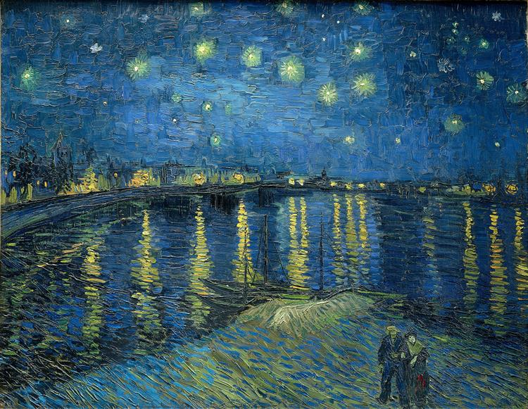 Starry Night Over the Rhone, 1888 - Vincent van Gogh